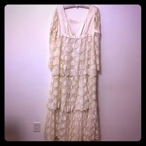 Vintage Wedding Dress Bridal Lace Empire Waist